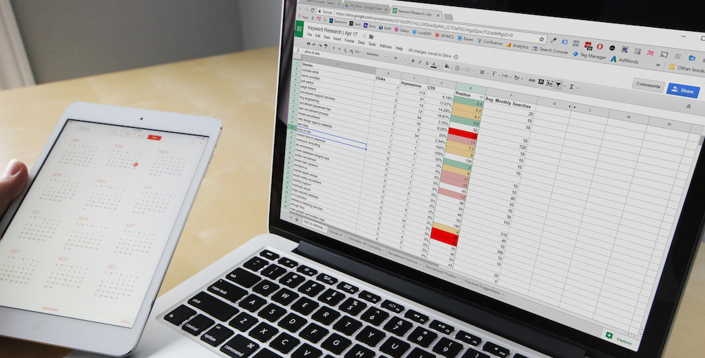 spreadsheets for keyword research SEO tips image