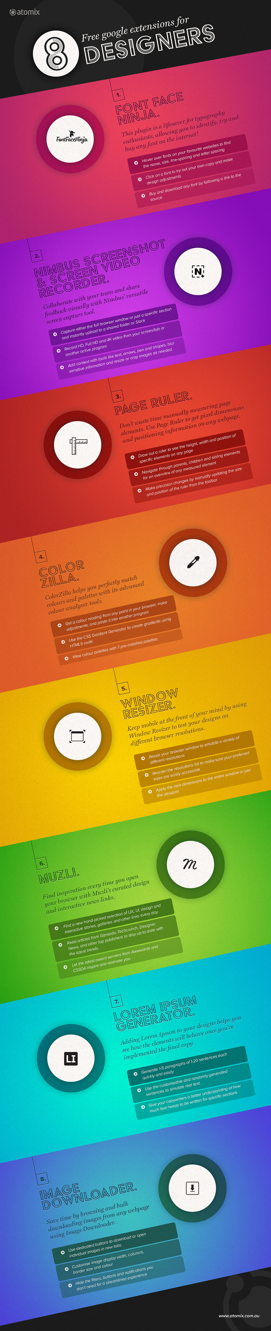free google extensions for designers infographic