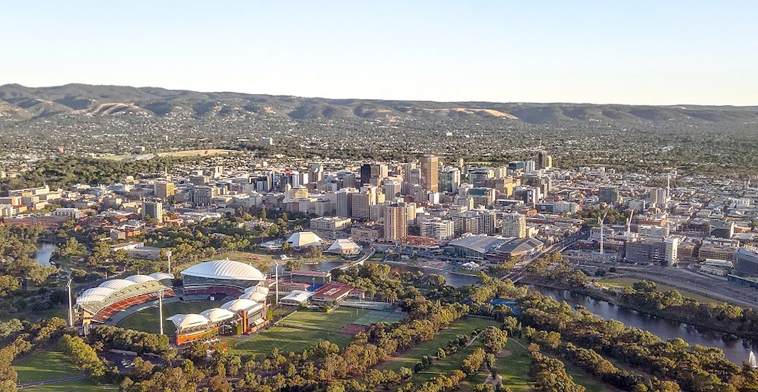 Adelaide city centre view