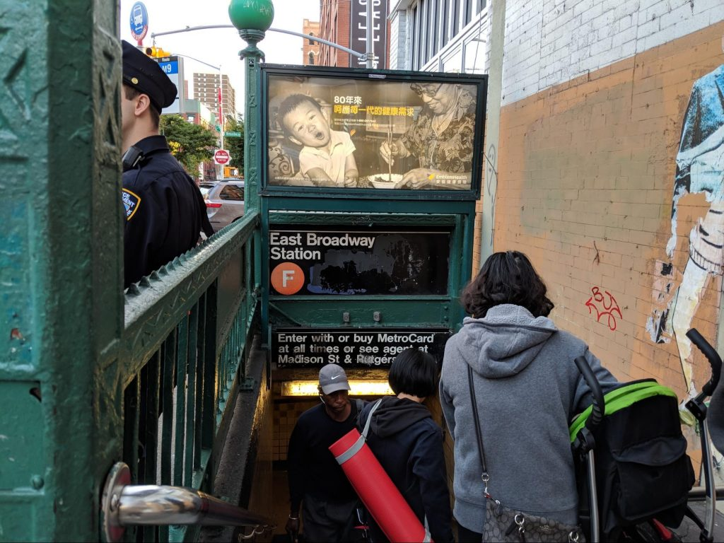 Line 'F' New York Subway entrance, an example of UX in the real world